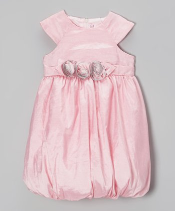 Pink Rosette Bubble Dress - Infant & Toddler