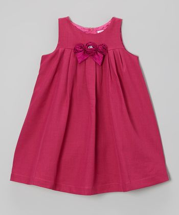 Magenta Bow Swing Dress - Infant, Toddler & Girls