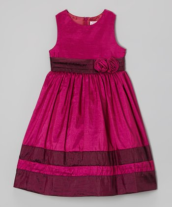 Festival Fuchsia & Deep Lilac Dress - Infant, Toddler & Girls