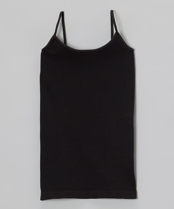 Malibu Sugar Black Camisole - Girls