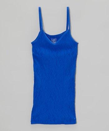 Malibu Sugar Cobalt Lace Camisole - Girls