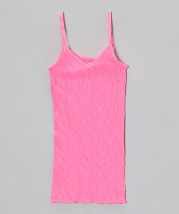Malibu Sugar Malibu Pink Lace Camisole - Girls