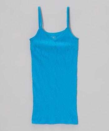 Malibu Sugar Turquoise Lace Camisole - Girls