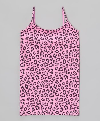 Malibu Sugar Malibu Pink Leopard Camisole - Girls
