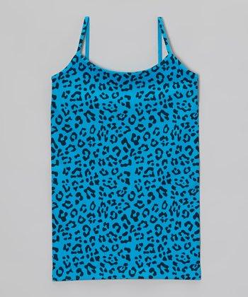Malibu Sugar Turquoise Leopard Camisole - Girls