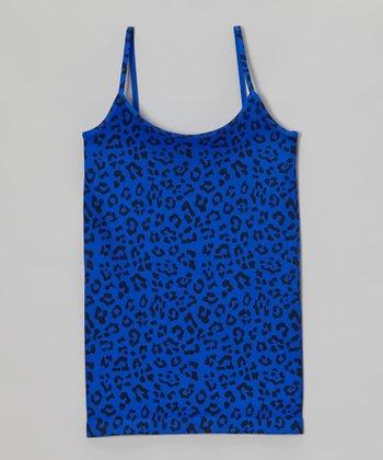 Malibu Sugar Cobalt Leopard Camisole - Girls