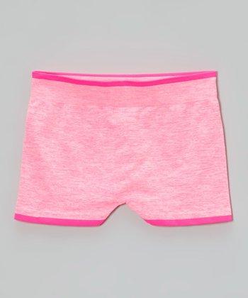 Malibu Sugar Heather Neon Fuchsia Shorts - Girls