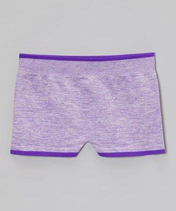 Malibu Sugar Heather Neon Purple Shorts - Girls