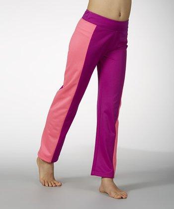 Neon Purple Yoga Pants - Girls