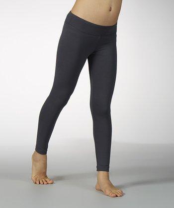 Carbon Sanded Dry Wik Leggings - Girls