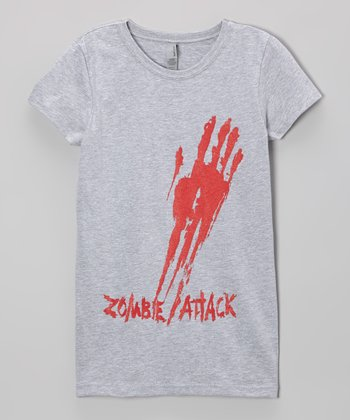 Heather Gray ' Zombie Attack' Tee - Girls
