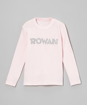 Light Pink Glitter Personalized Tee - Infant, Toddler & Girls