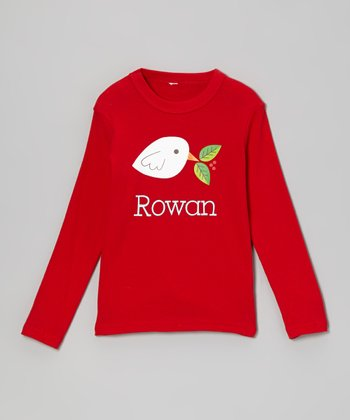 Red Dove Personalized Tee - Infant, Toddler & Girls