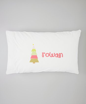 White Christmas Tree Personalized Pillowcase