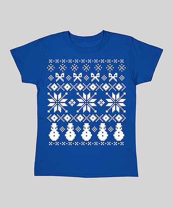 Blue Snowmen Short-Sleeve Tee - Women & Plus