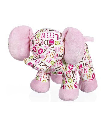 GANZ Pink Pitter Pattern Elephant Plush Toy