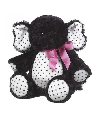GANZ Black Licorice Elephant Plush Toy