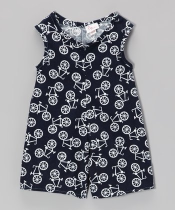 Navy Bicycles Playsuit - Infant