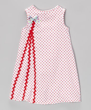 Red & White Polka Dot A-Line Dress - Infant & Toddler
