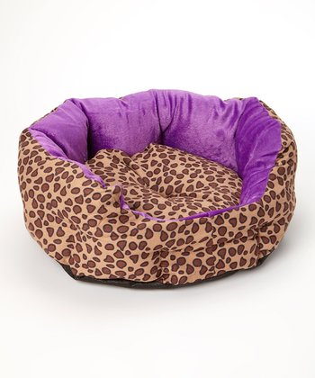 Lilac Leopard Pet Bed