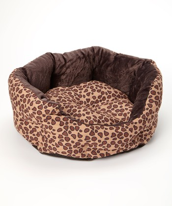 Brown Leopard Pet Bed