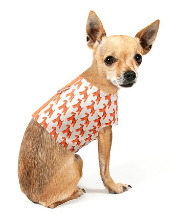 Terrier Orange Dog Harness
