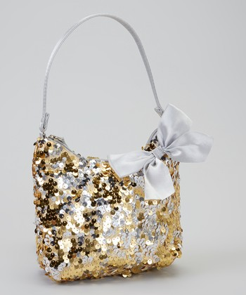 Gold & Silver Paillette Hobo Bag