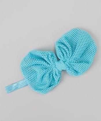 Turquoise Mesh Bow Headband