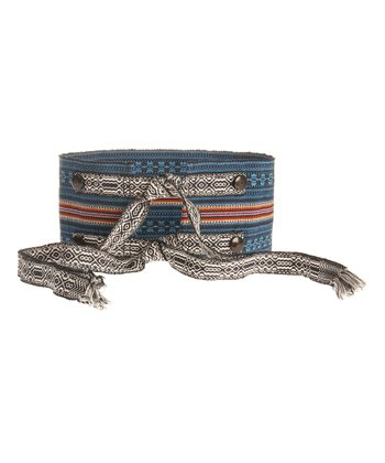 Pacific Blue & Orange Stripe Belt
