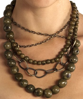 Green Açaí Chain Necklace