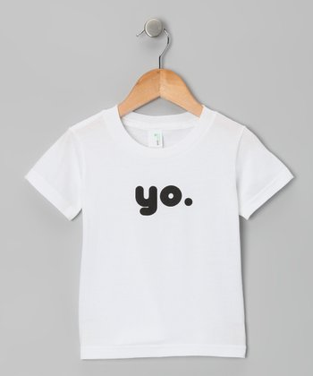 White 'Yo' Organic Tee - Toddler