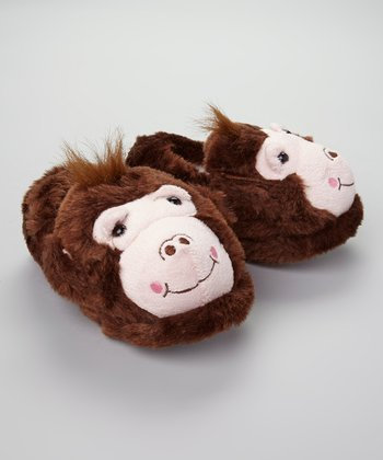 Brown Monkey Slipper - Kids