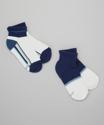 Blue & White Sporty Sock Set