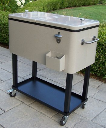 Sand Wheeled Patio Cooler Cart