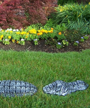 Pewter Garden Gator