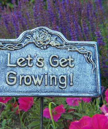 'Let's Get Growing' Garden Marker