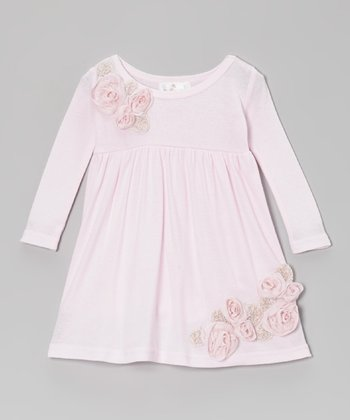 Pink Elise Flower Dress - Infant