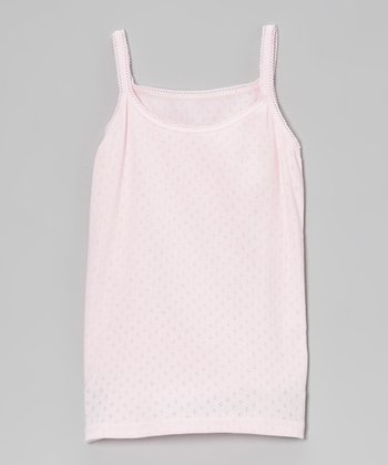 Pink Pointelle Camisole - Infant, Toddler & Girls