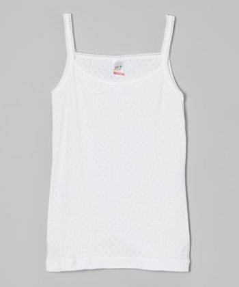 White Pointelle Camisole - Infant, Toddler & Girls