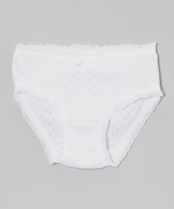 White Pointelle Underwear - Infant, Toddler & Girls