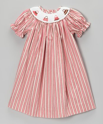 Pink Stripe Purse Bishop Dress - Infant & Toddler