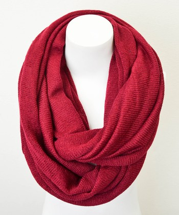 Leto Collection Burgundy Infinity Scarf