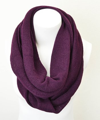 Leto Collection Eggplant Infinity Scarf