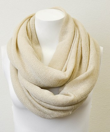 Leto Collection Ivory Infinity Scarf