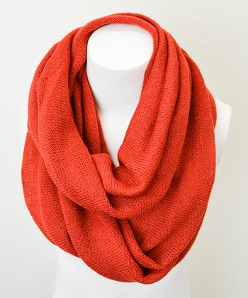 Leto Collection Rust Infinity Scarf