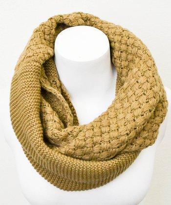 Leto Collection Mocha Basket Weave Infinity Scarf