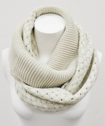 Leto Collection Oatmeal Basket Weave Infinity Scarf