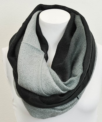Leto Collection Black Ombré Infinity Scarf