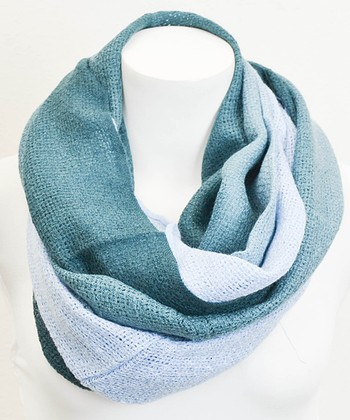 Leto Collection Blue Ombré Infinity Scarf