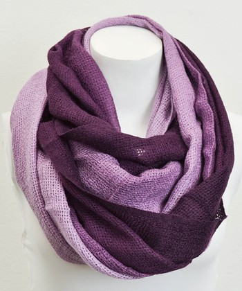 Leto Collection Purple Ombré Infinity Scarf